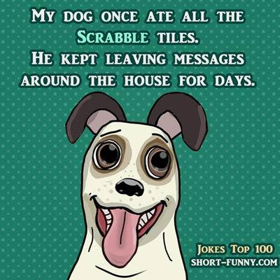Clock Dog Scrabble Cartoon