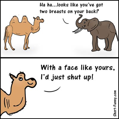 Image of: Memes Cartoon Elephant Face Camel Shortfunnycom New Jokes 2018 2019 Latest Fresh Humor Shortfunnycom