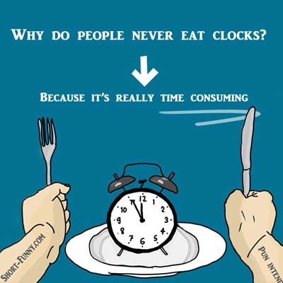 Clock Time Consuming Humor