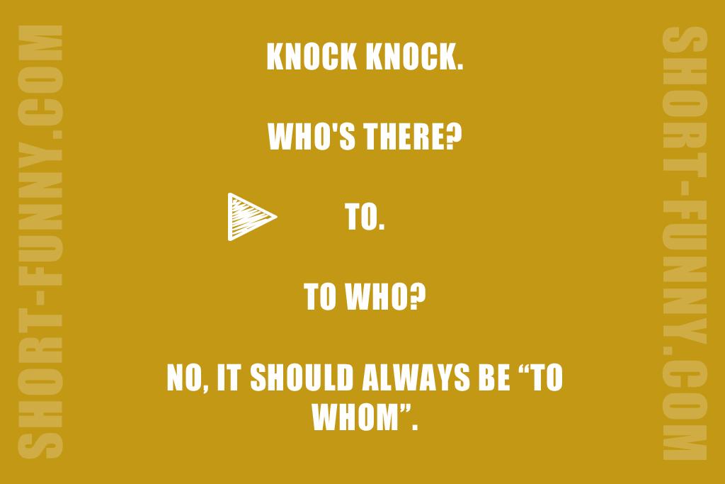 Knock Knock Grammar Nazi