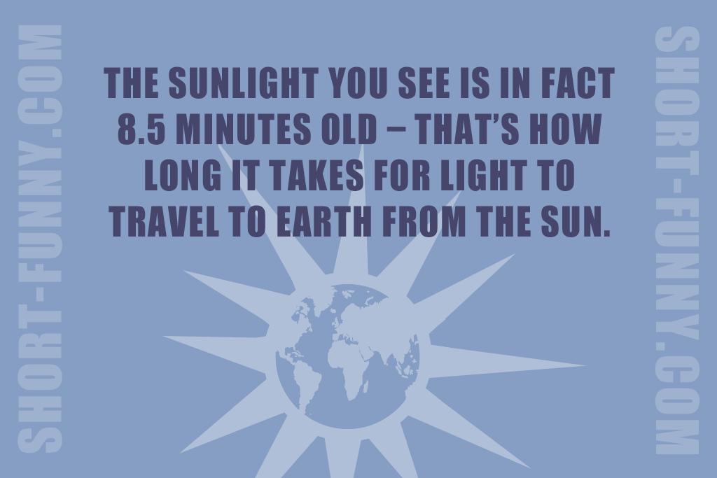 Interesting Fun Fact About Light