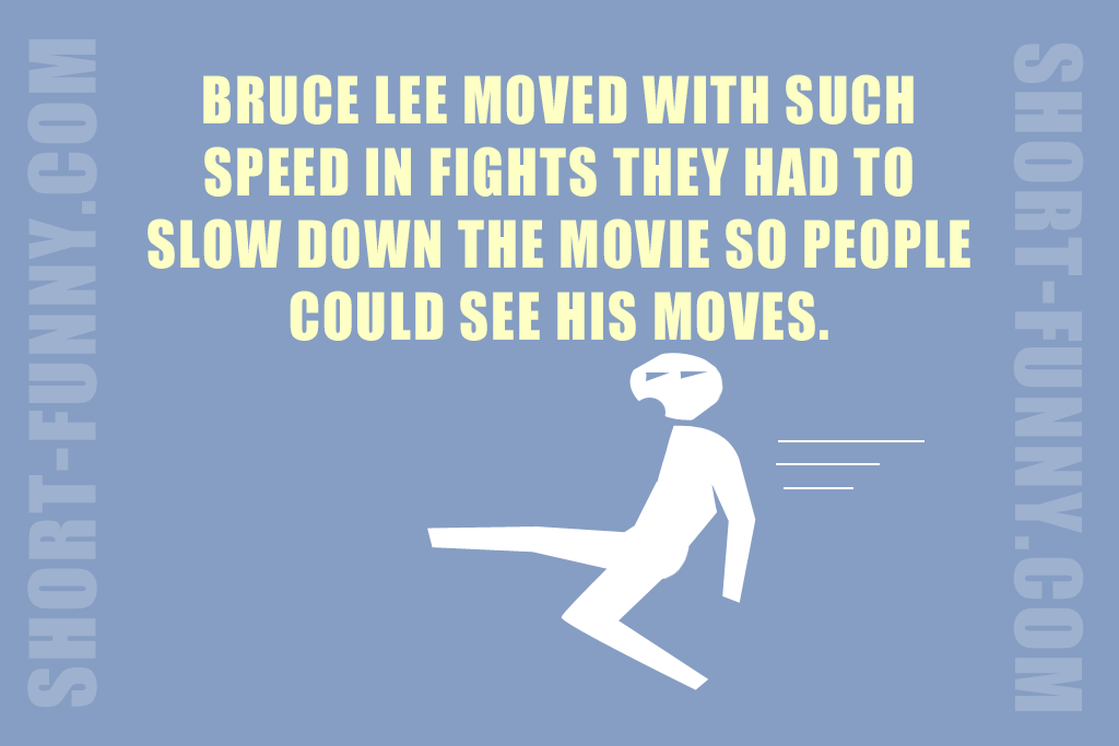 Amazing Bruce Lee fun fact