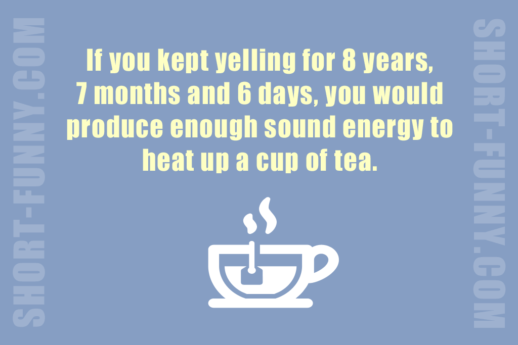 Awesome Fun Fact about Yelling