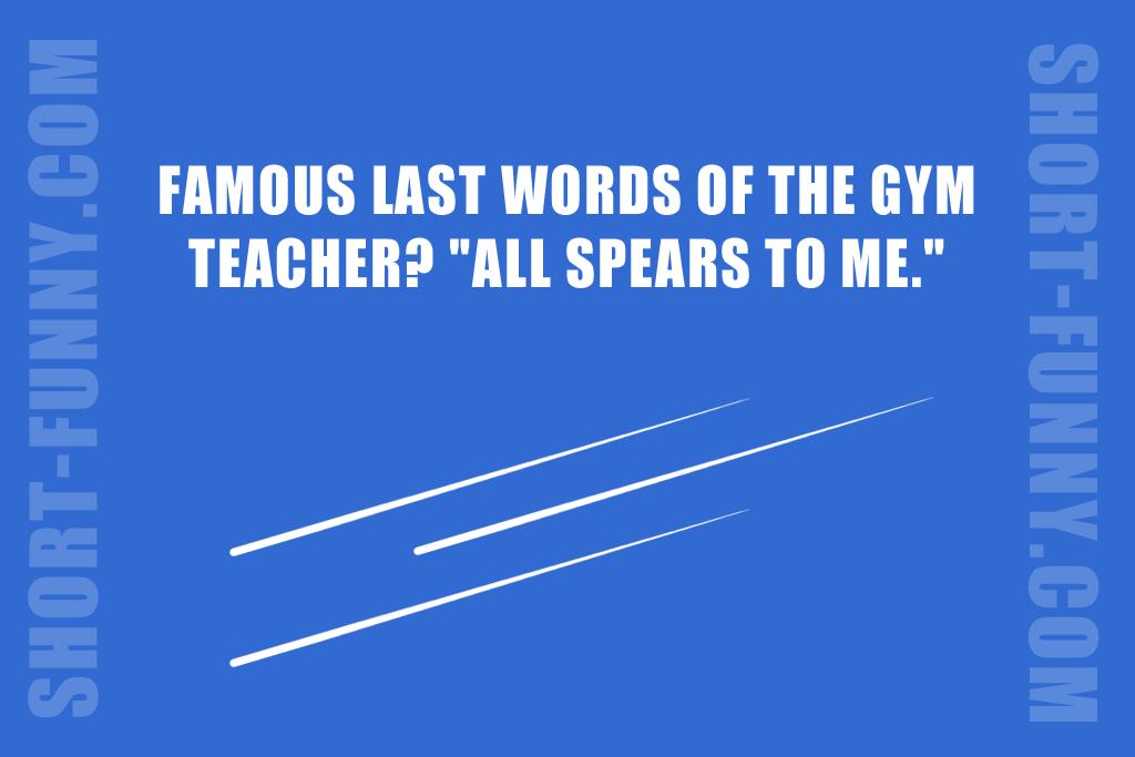 Funny gym teacher joke